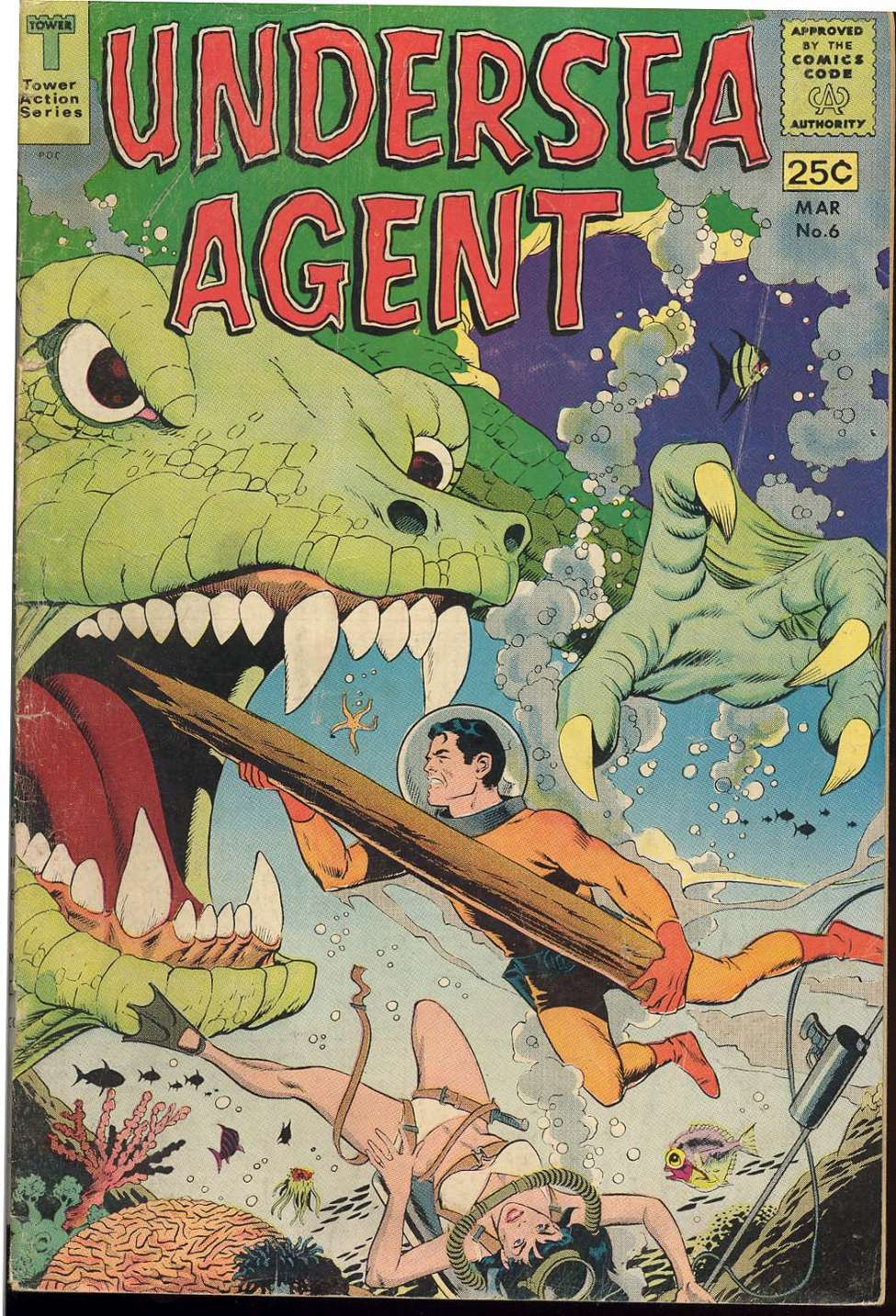 Comic Book Cover For Undersea Agent #6