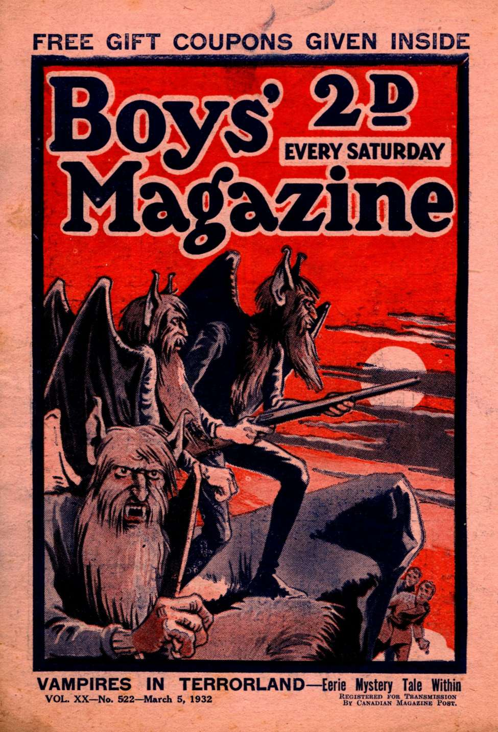 Comic Book Cover For Boys' Magazine 522
