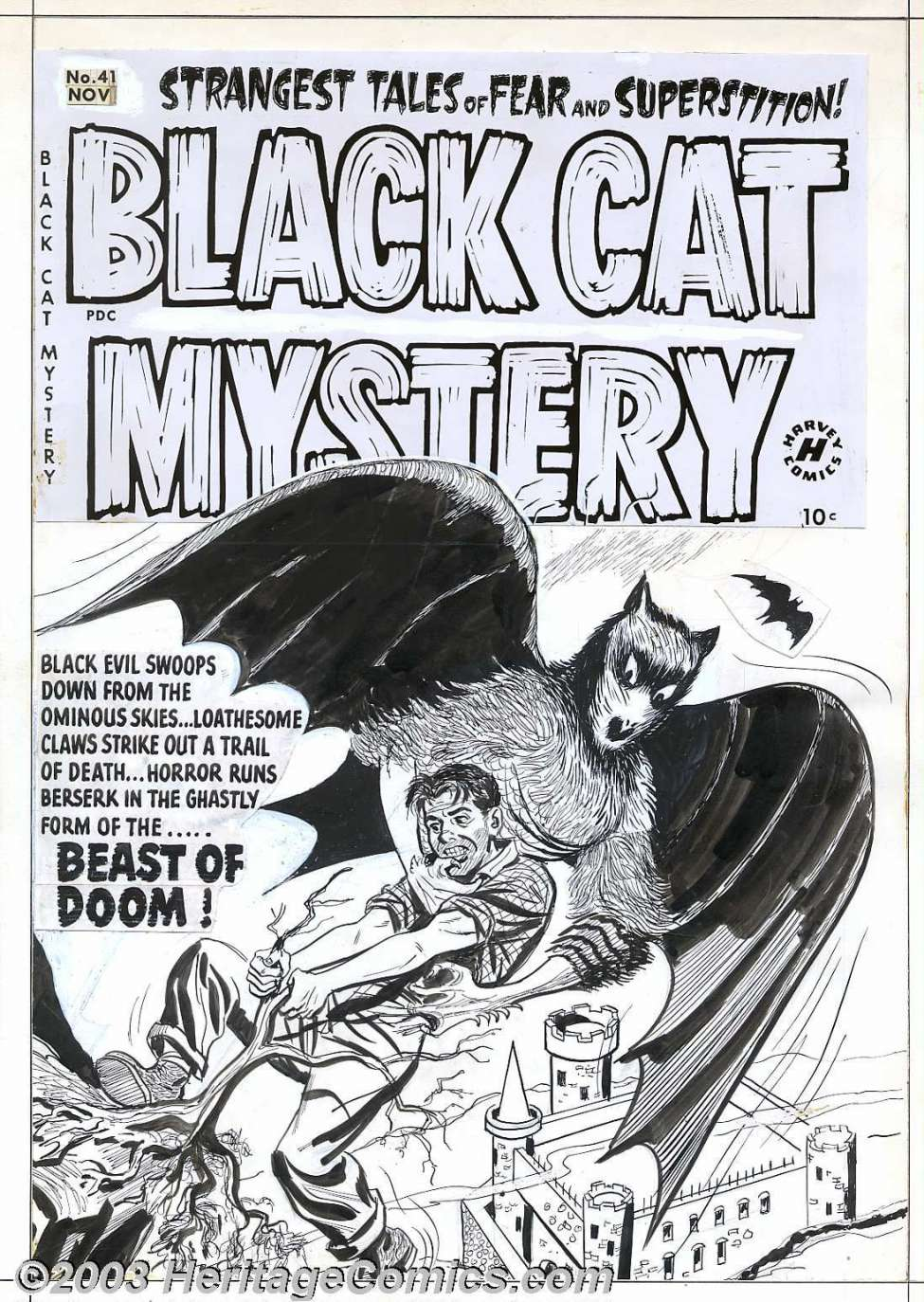 Comic Book Cover For Black Cat #41