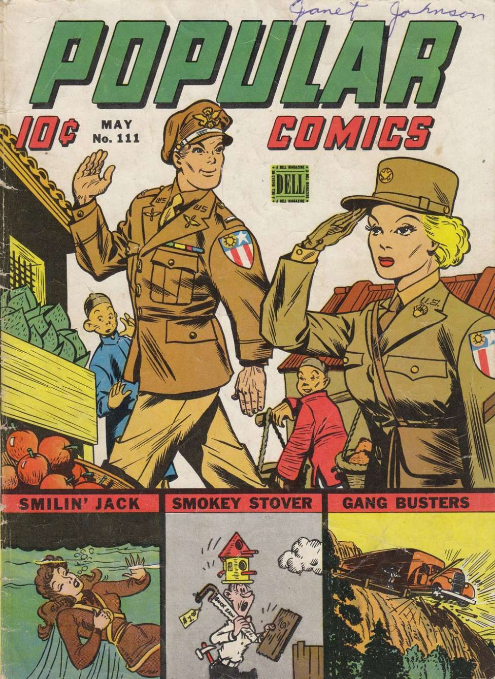 Comic Book Cover For Popular Comics #111