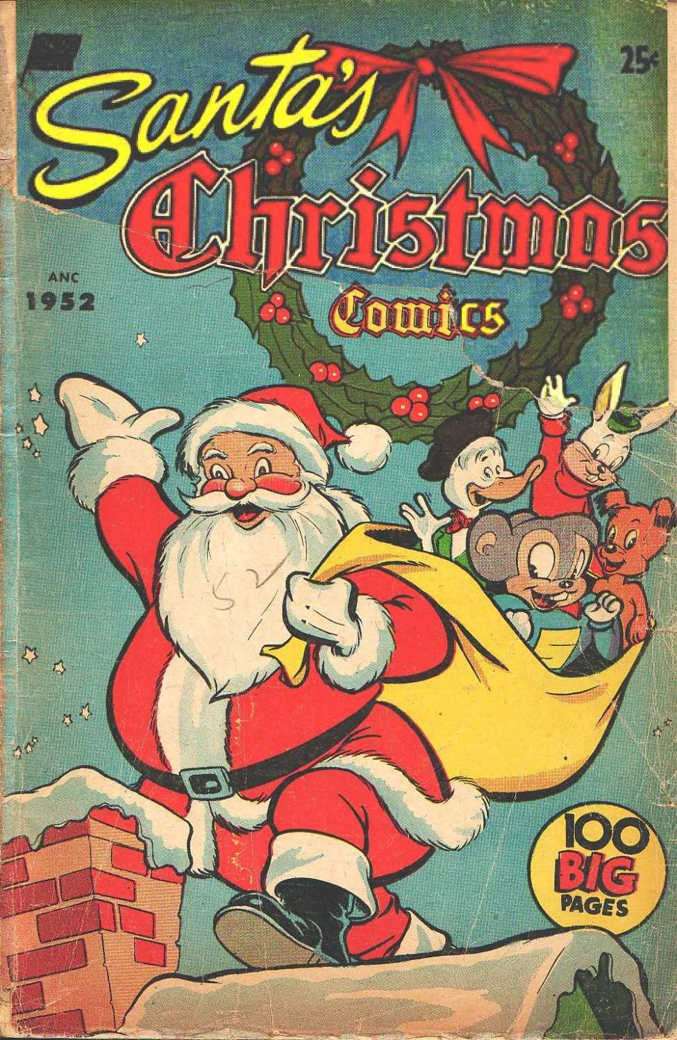 Comic Book Cover For Santa's Christmas Comics [nn]