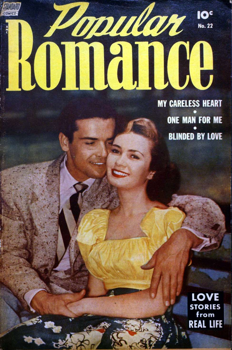 Comic Book Cover For Popular Romance #22
