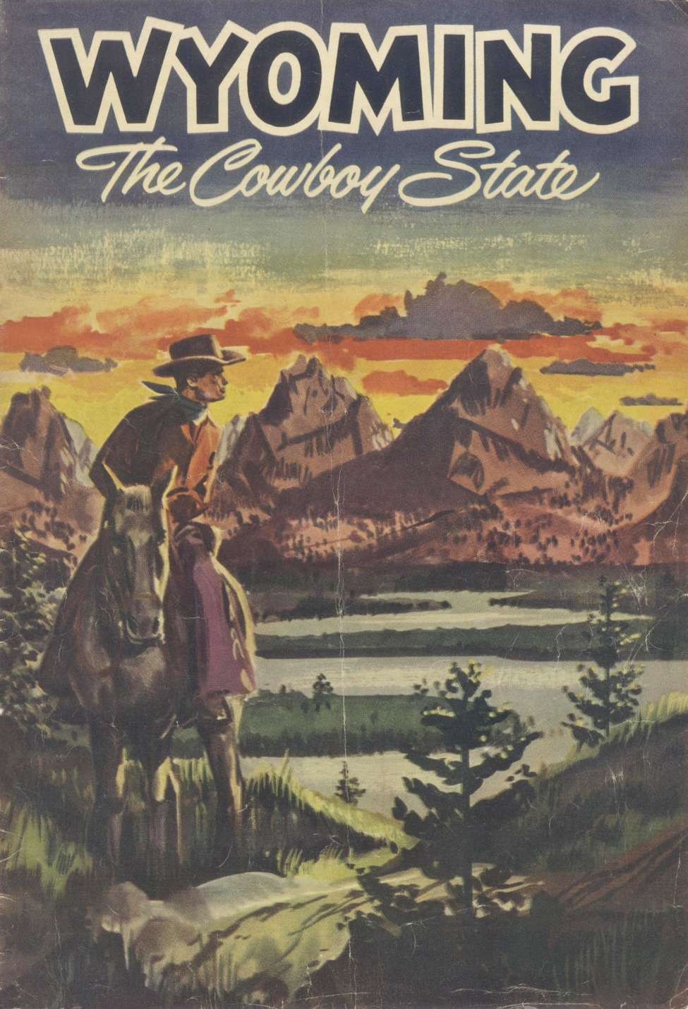 Comic Book Cover For Wyoming The Cowboy State (A)
