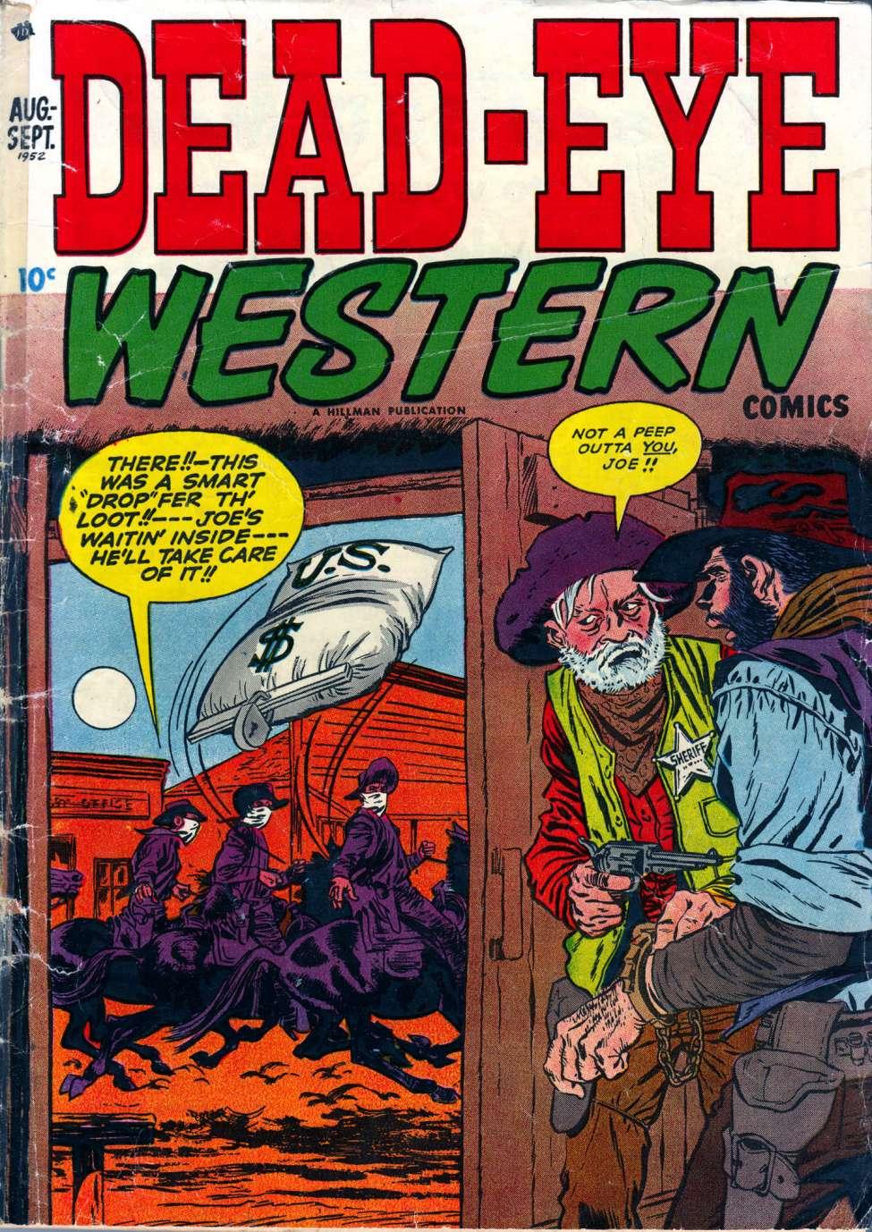 Comic Book Cover For Dead-Eye Western Comics v2 #9
