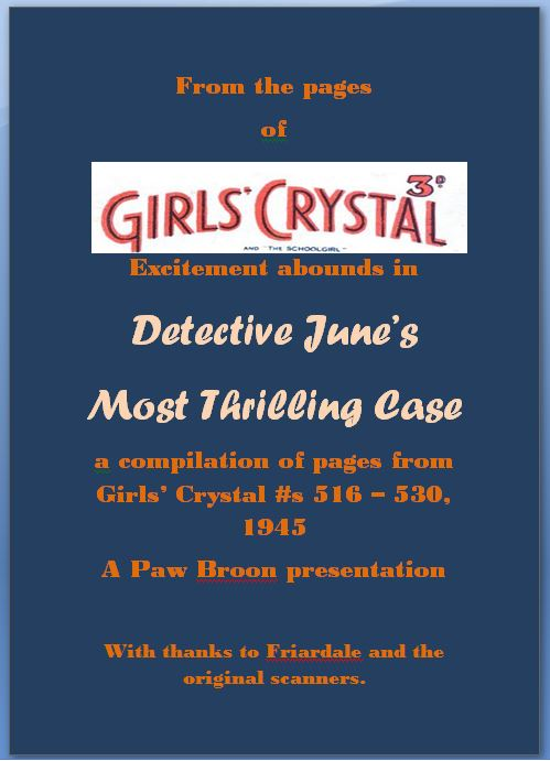 Comic Book Cover For Detective June's Most Thrilling Case