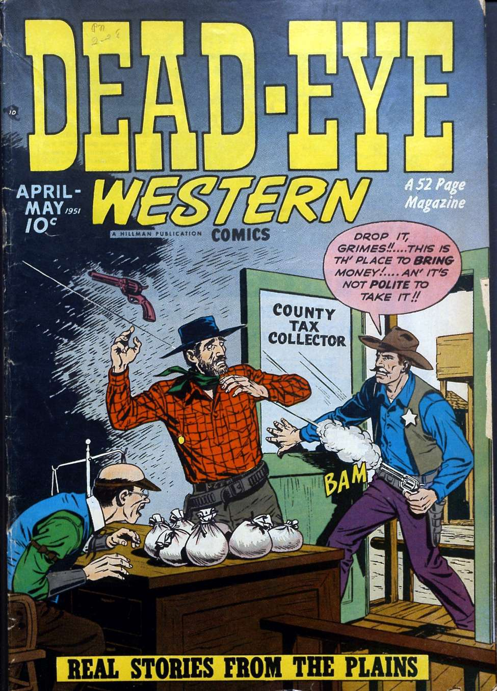 Comic Book Cover For Dead-Eye Western Comics v2 #3