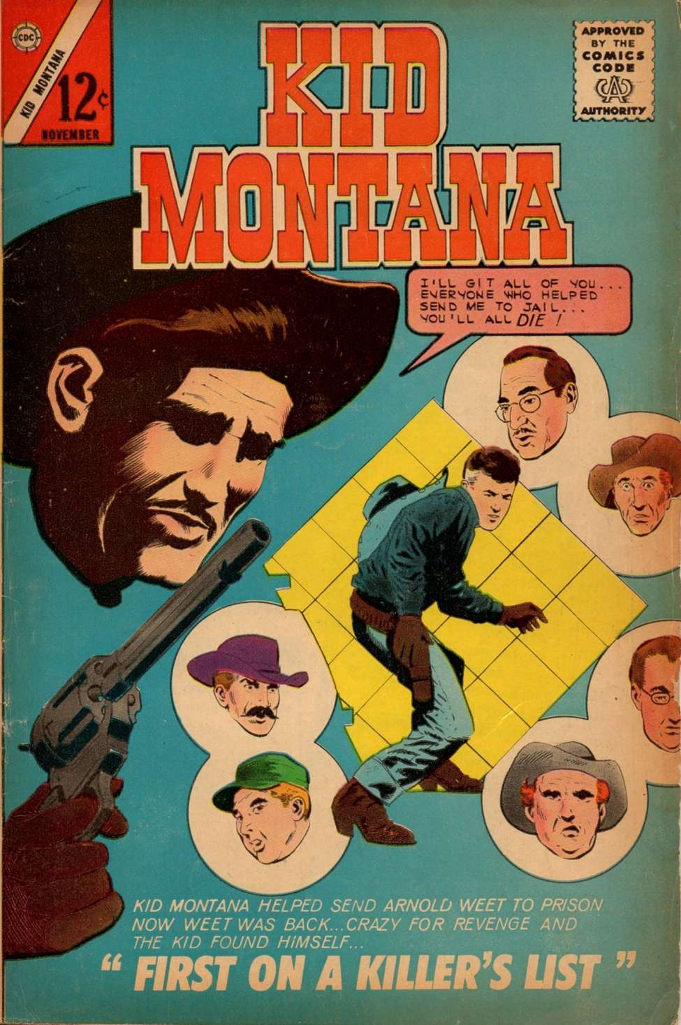 Comic Book Cover For Kid Montana #43