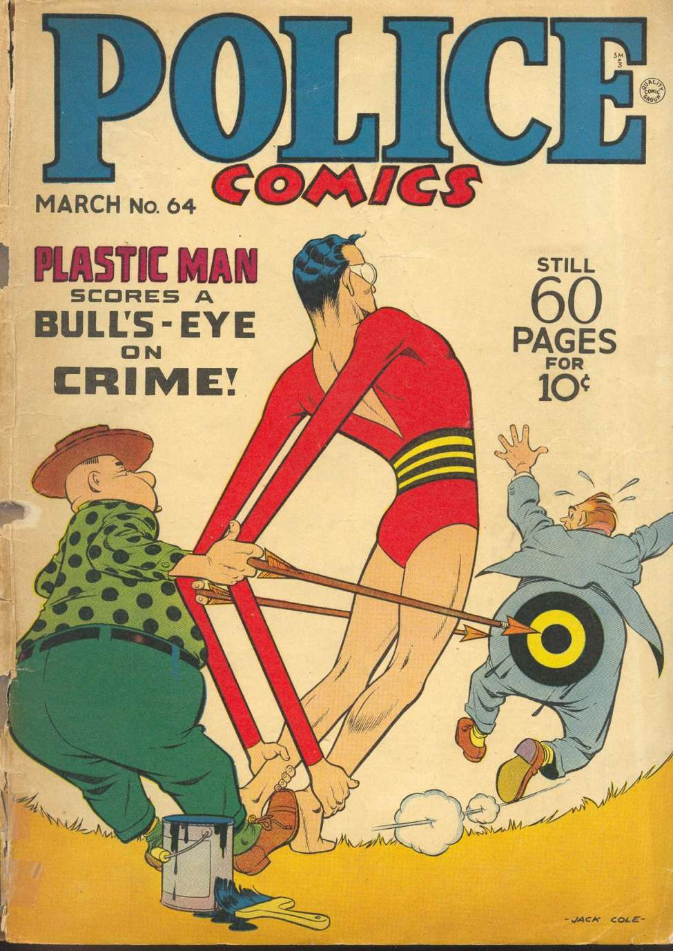 Comic Book Cover For Police Comics #64
