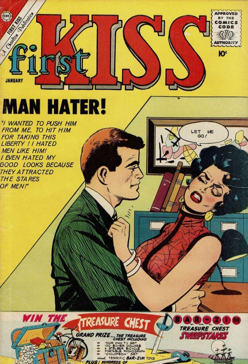 Comic Book Cover For First Kiss #18