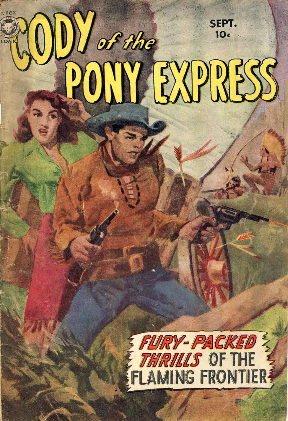 Comic Book Cover For Cody of the Pony Express #1