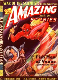 Large Thumbnail For Amazing Stories v14 04 - Fish Men of Venus - David Wright O'Brien