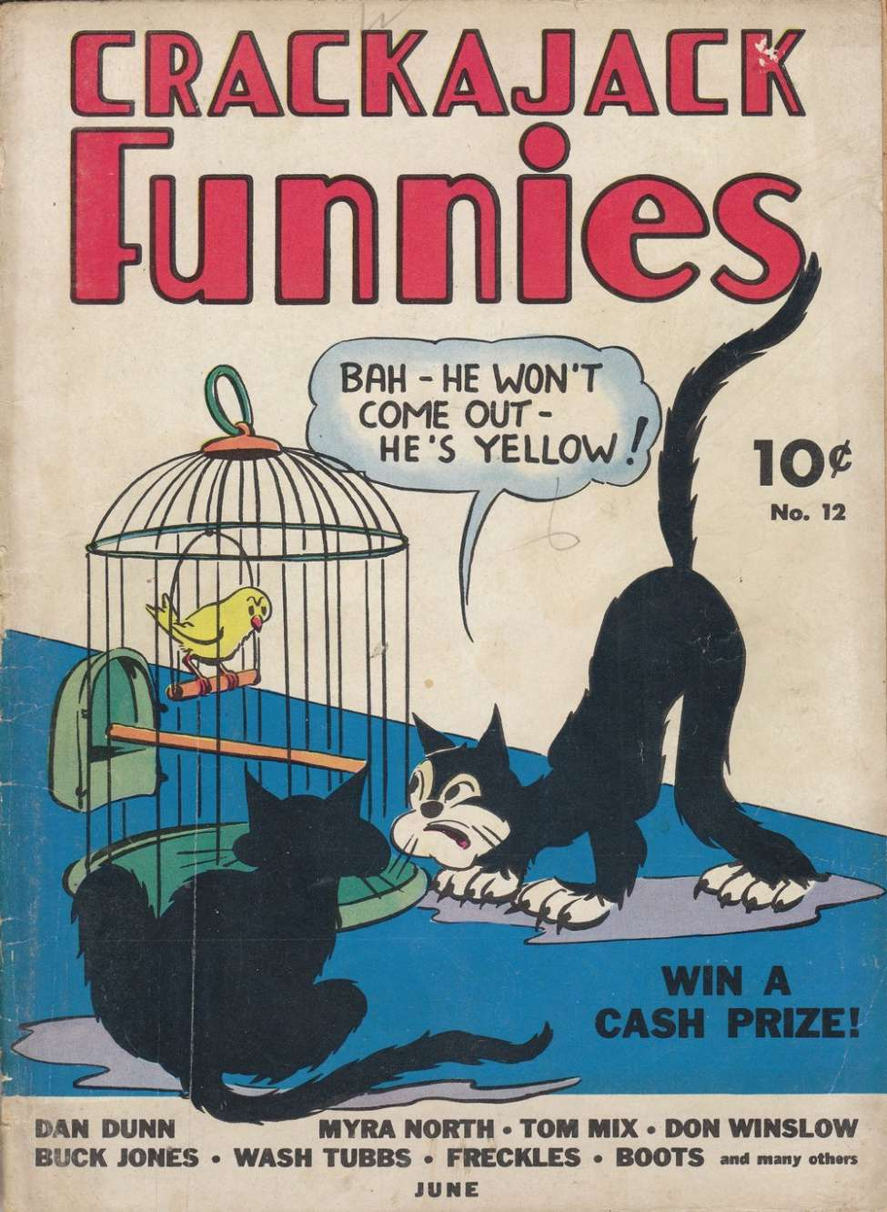 Comic Book Cover For Crackajack Funnies #12 - Version 1