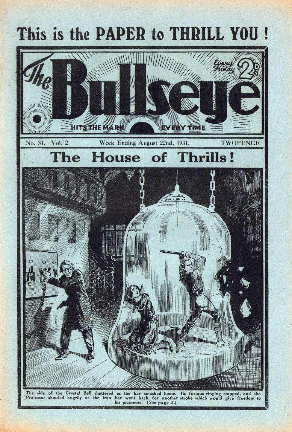 Comic Book Cover For The Bullseye v02 31 - The House of Thrills