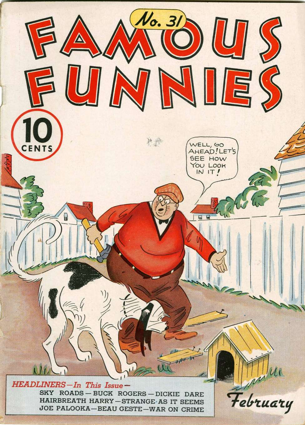 Comic Book Cover For Famous Funnies #31