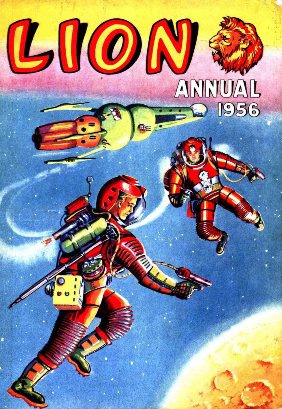 Comic Book Cover For Lion Annual #1956