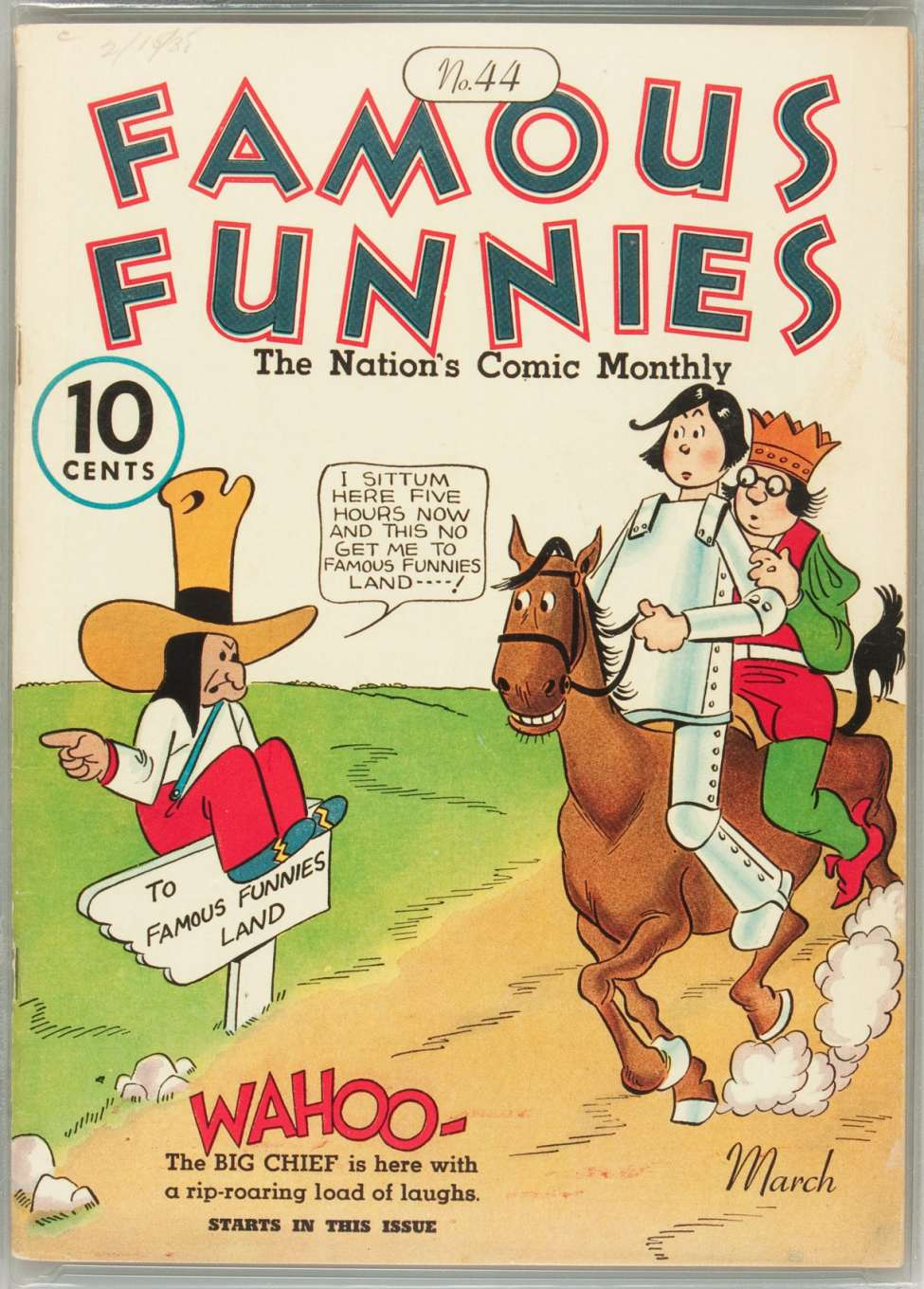 Comic Book Cover For Famous Funnies #44