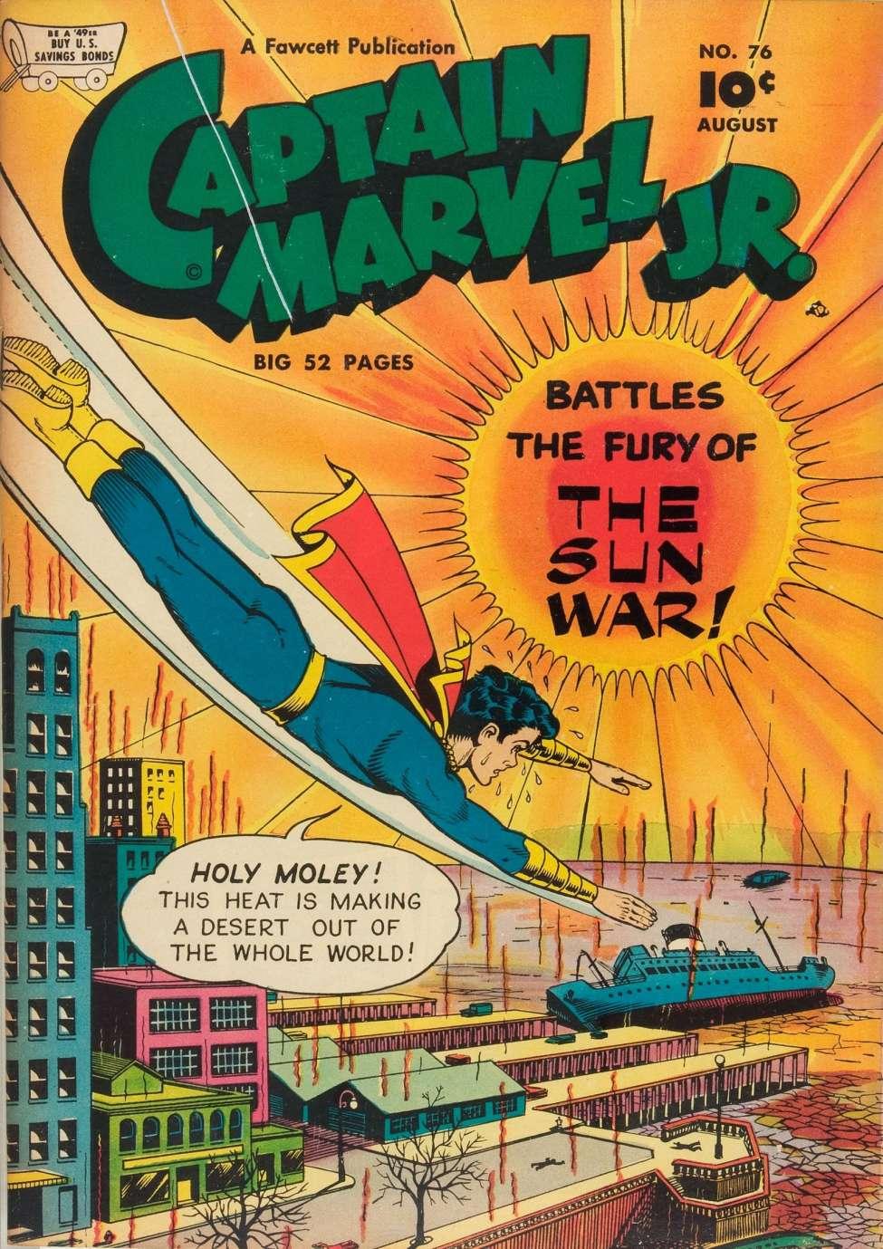 Comic Book Cover For Captain Marvel Jr. #76