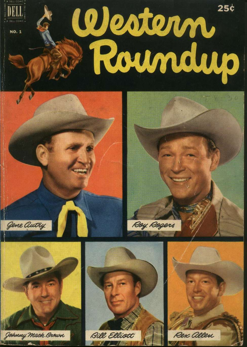 Comic Book Cover For Western Roundup #1