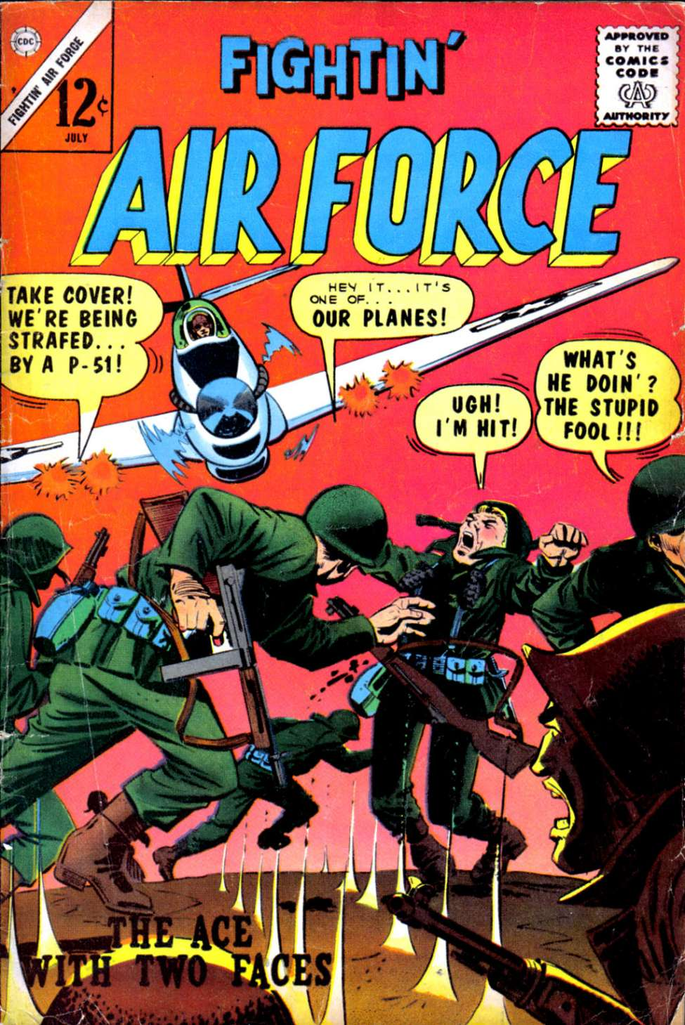 Comic Book Cover For Fightin' Air Force #49