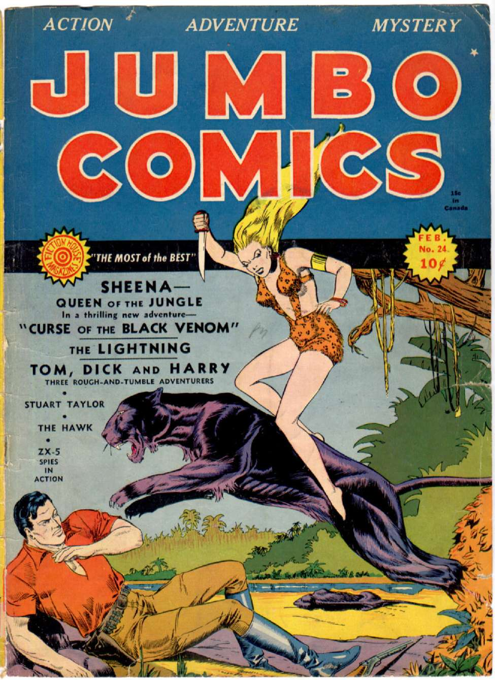 Comic Book Cover For Jumbo Comics #24