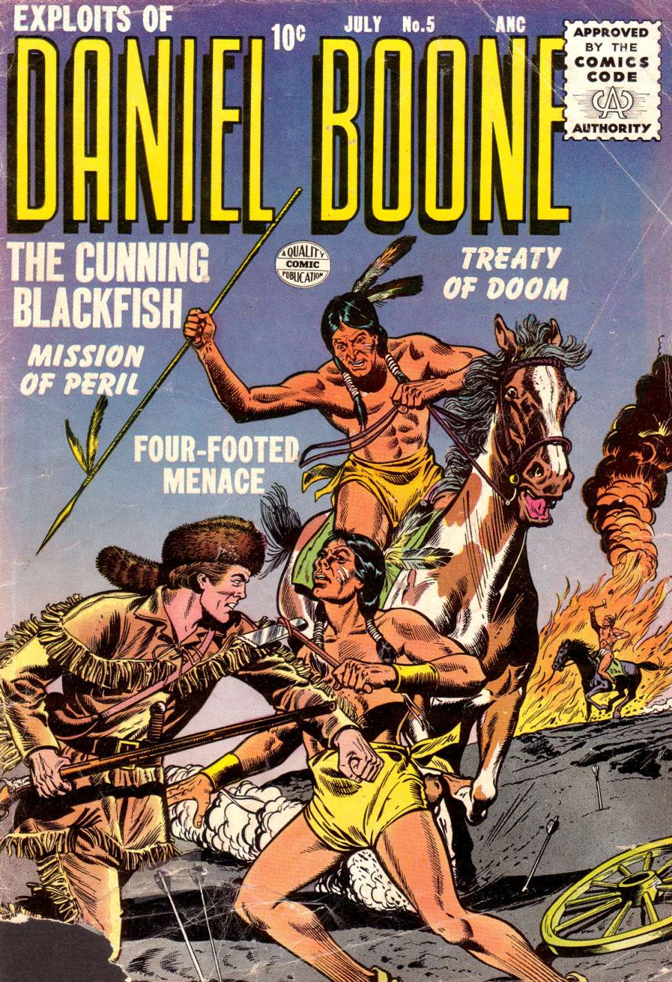 Comic Book Cover For Exploits of Daniel Boone #5