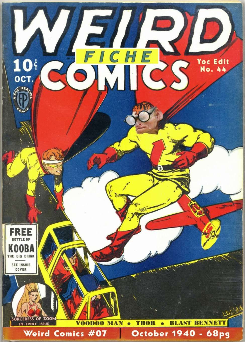 Comic Book Cover For Weird Comics #7
