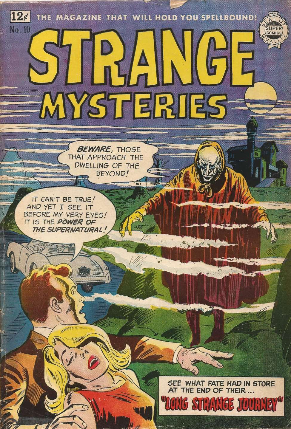 Comic Book Cover For Strange Mysteries #10