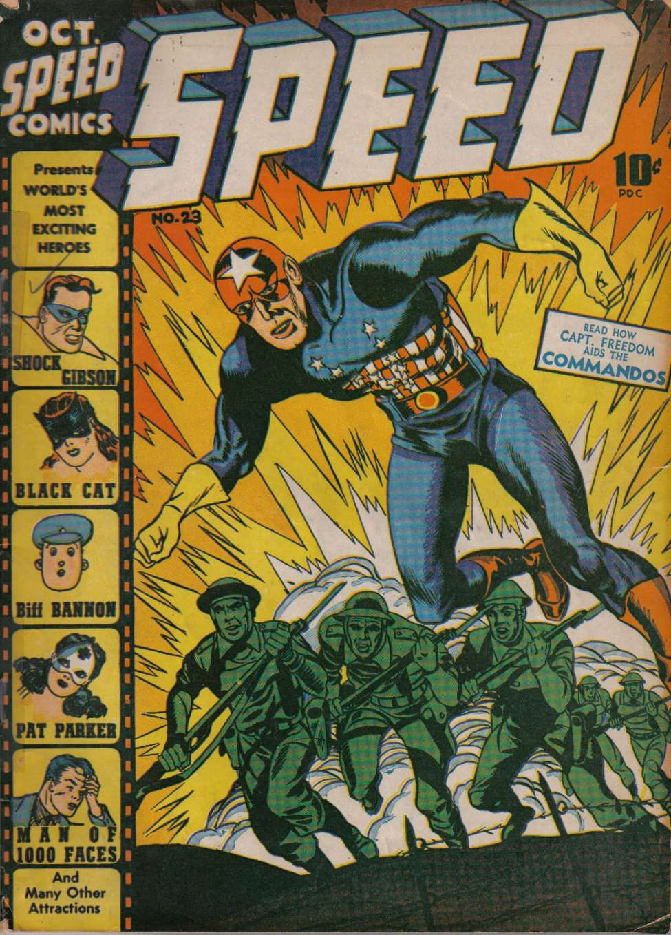 Comic Book Cover For Speed Comics #23
