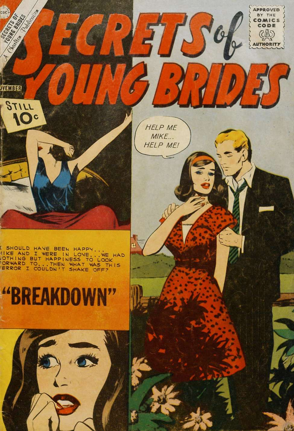 Comic Book Cover For Secrets of Young Brides #28