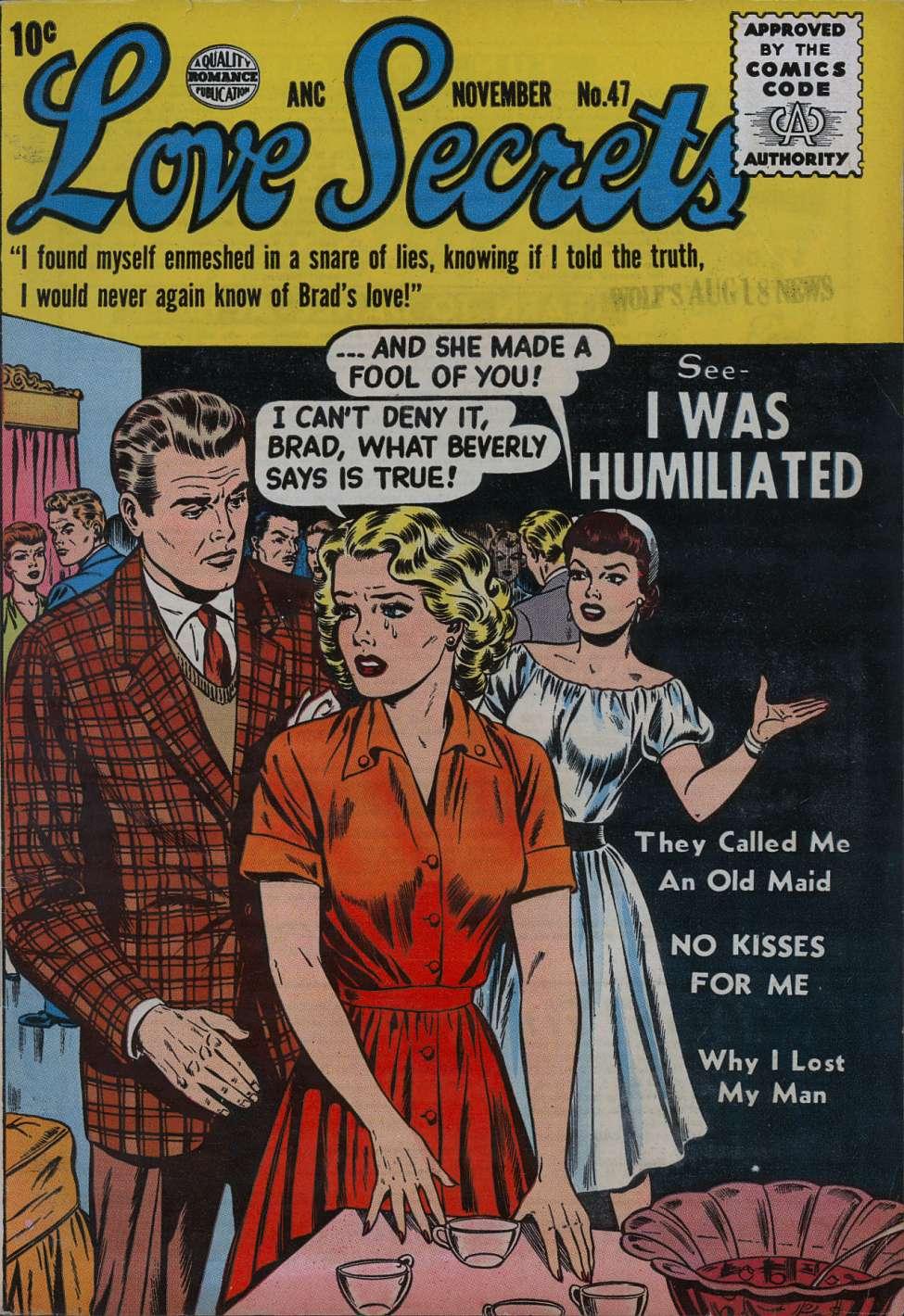 Comic Book Cover For Love Secrets #47