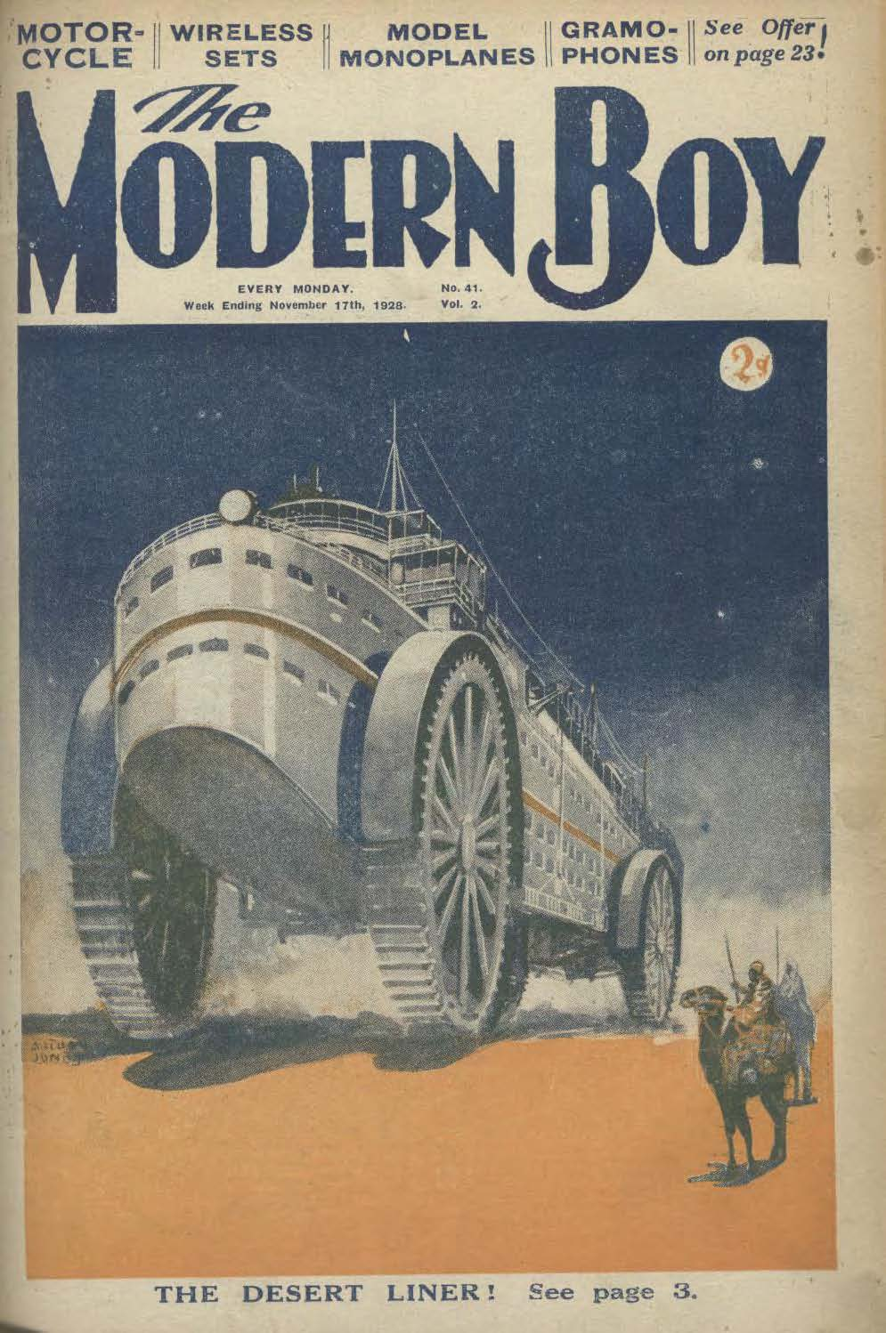 Comic Book Cover For The Modern Boy 041 - The Desert Liner