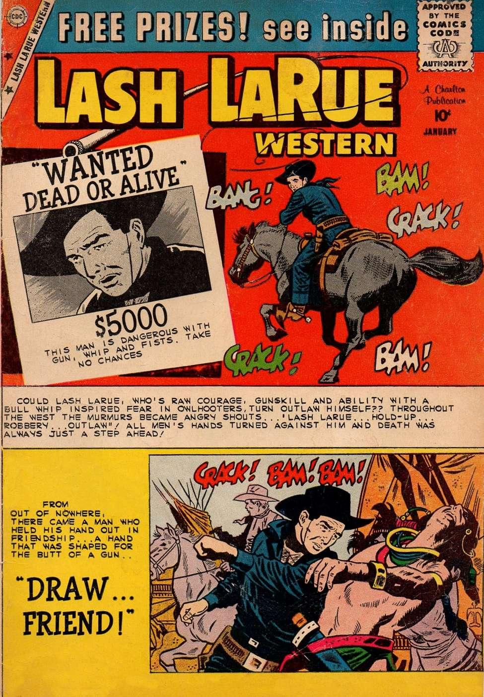 Comic Book Cover For Lash Larue Western #76