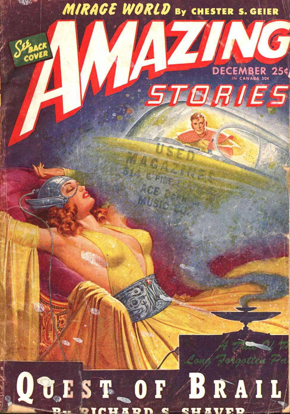 Comic Book Cover For Amazing Stories v19 04 - Quest of Brail - Richard S. Shaver