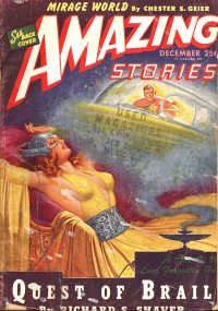 Large Thumbnail For Amazing Stories v19 04 - Quest of Brail - Richard S. Shaver