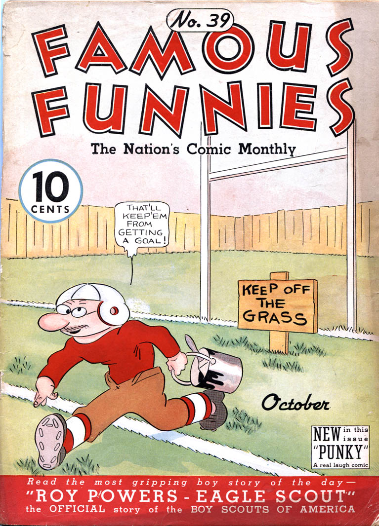 Comic Book Cover For Famous Funnies #39