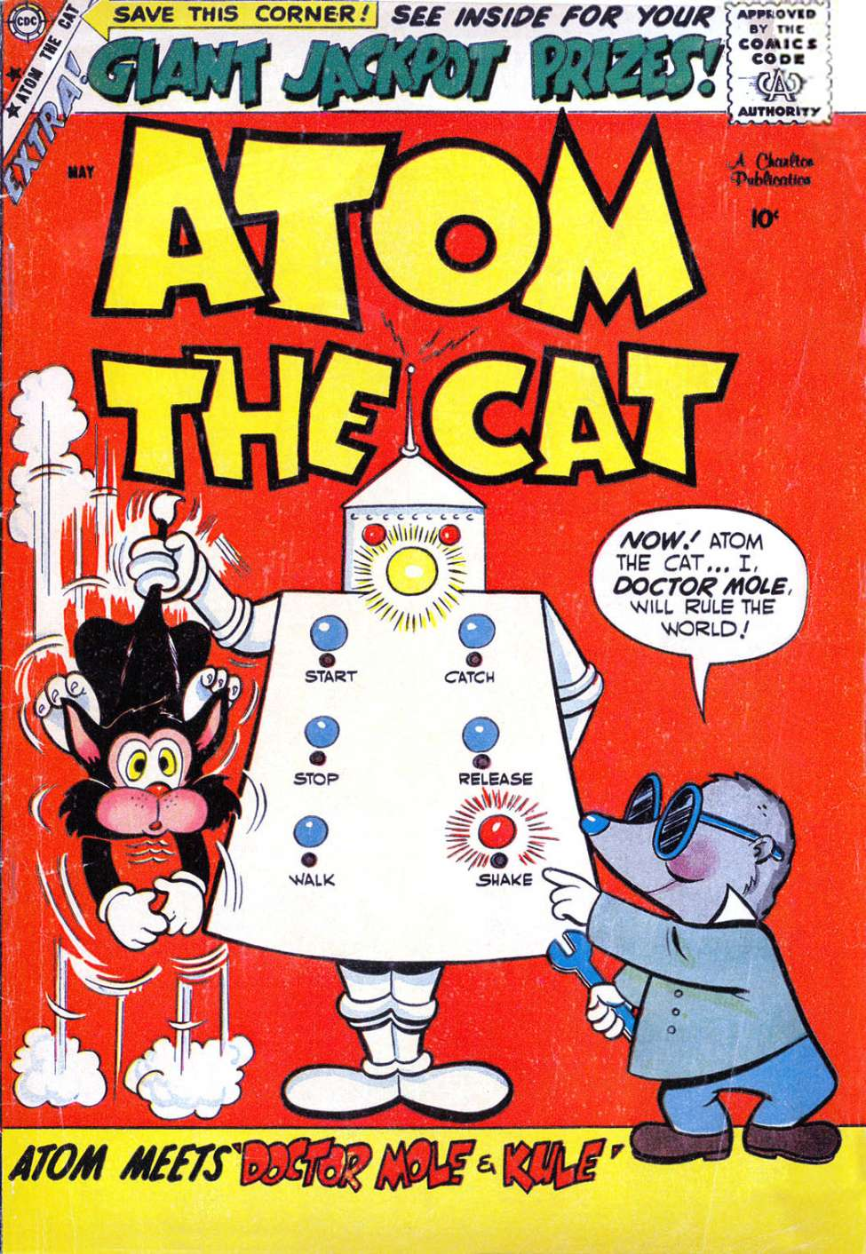 Comic Book Cover For Atom the Cat #16 - Version 1