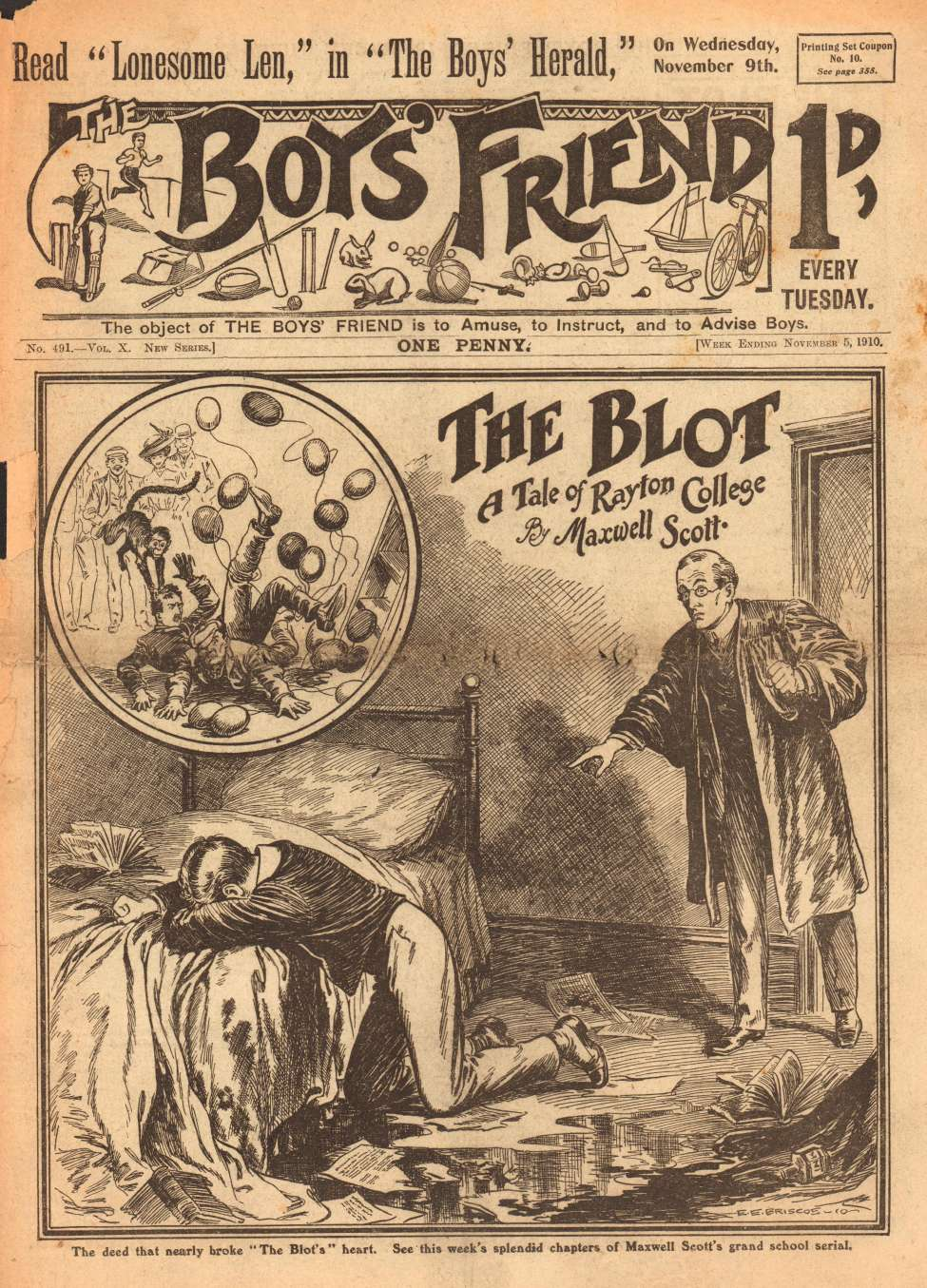 Comic Book Cover For The Boys' Friend 0491 - The Blot