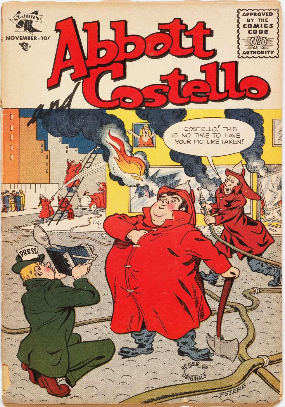 Comic Book Cover For Abbott and Costello Comics #33