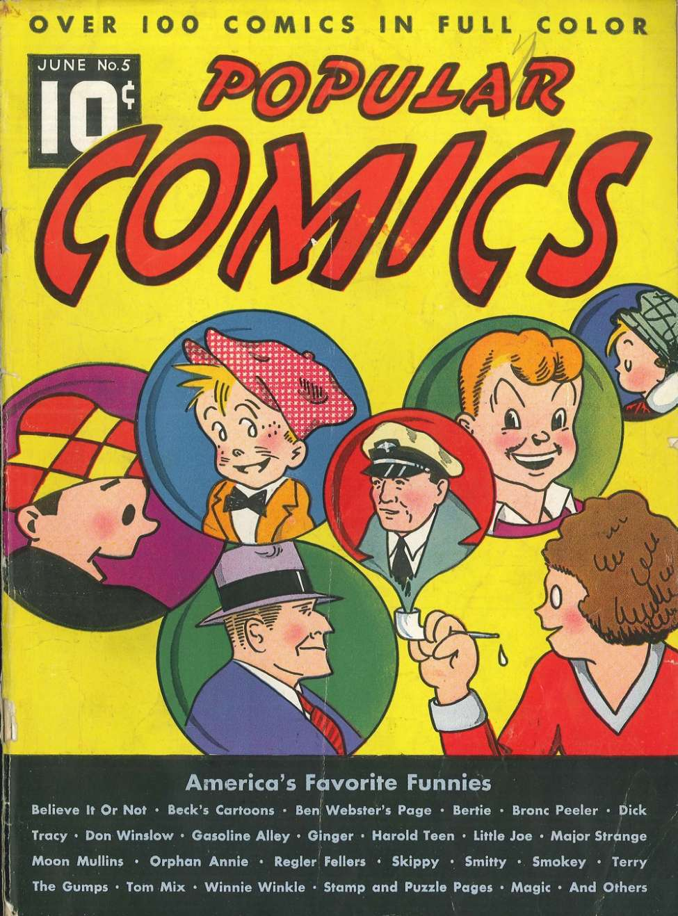 Comic Book Cover For Popular Comics #5