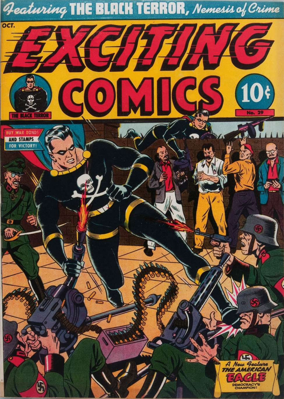 Comic Book Cover For Exciting Comics 29
