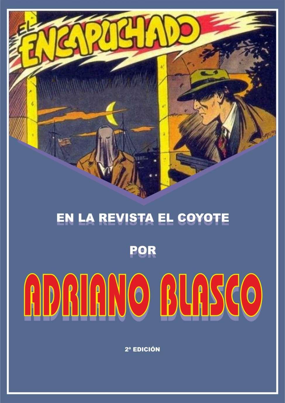 Comic Book Cover For El Encapuchado en la revista El Coyote por Adriano Blasco 2d Ed
