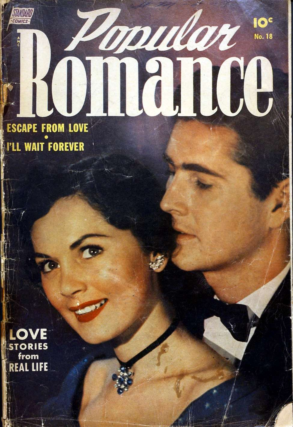 Comic Book Cover For Popular Romance #18