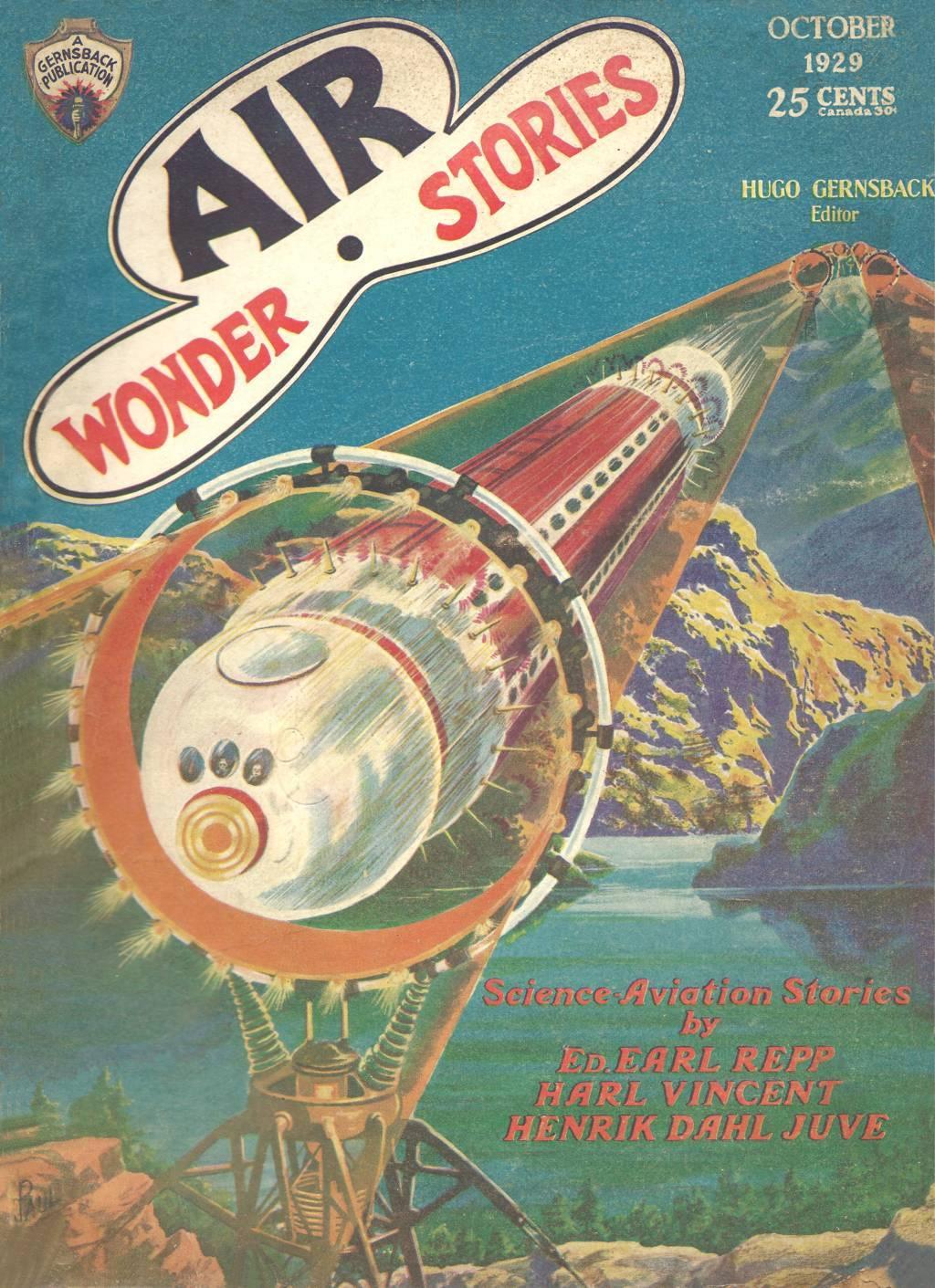Comic Book Cover For Air Wonder Stories 04 - The Sky Maniac - Henrik Dahl Juve