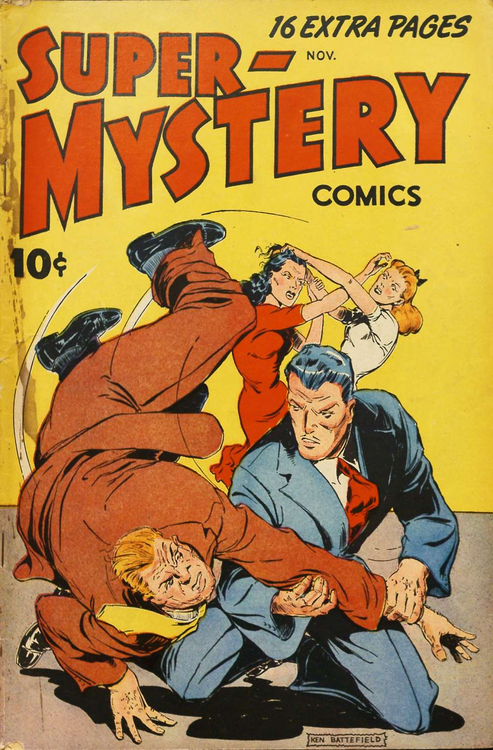 Comic Book Cover For Super-Mystery Comics v7 #2