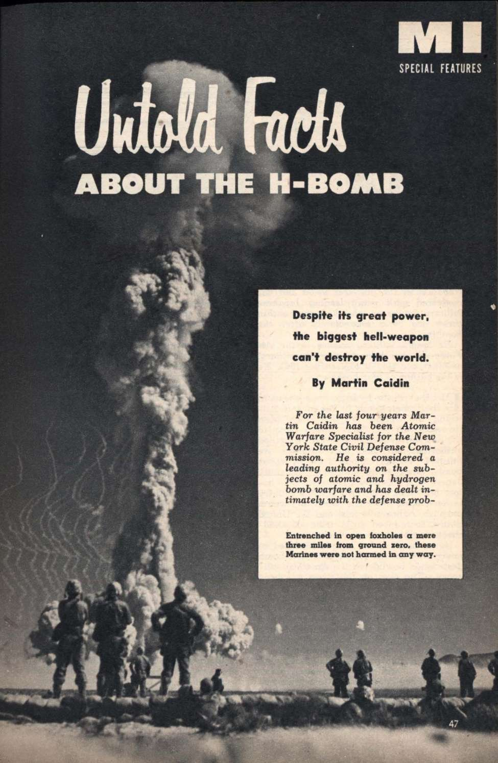 Comic Book Cover For Untold Facts About the H-Bomb