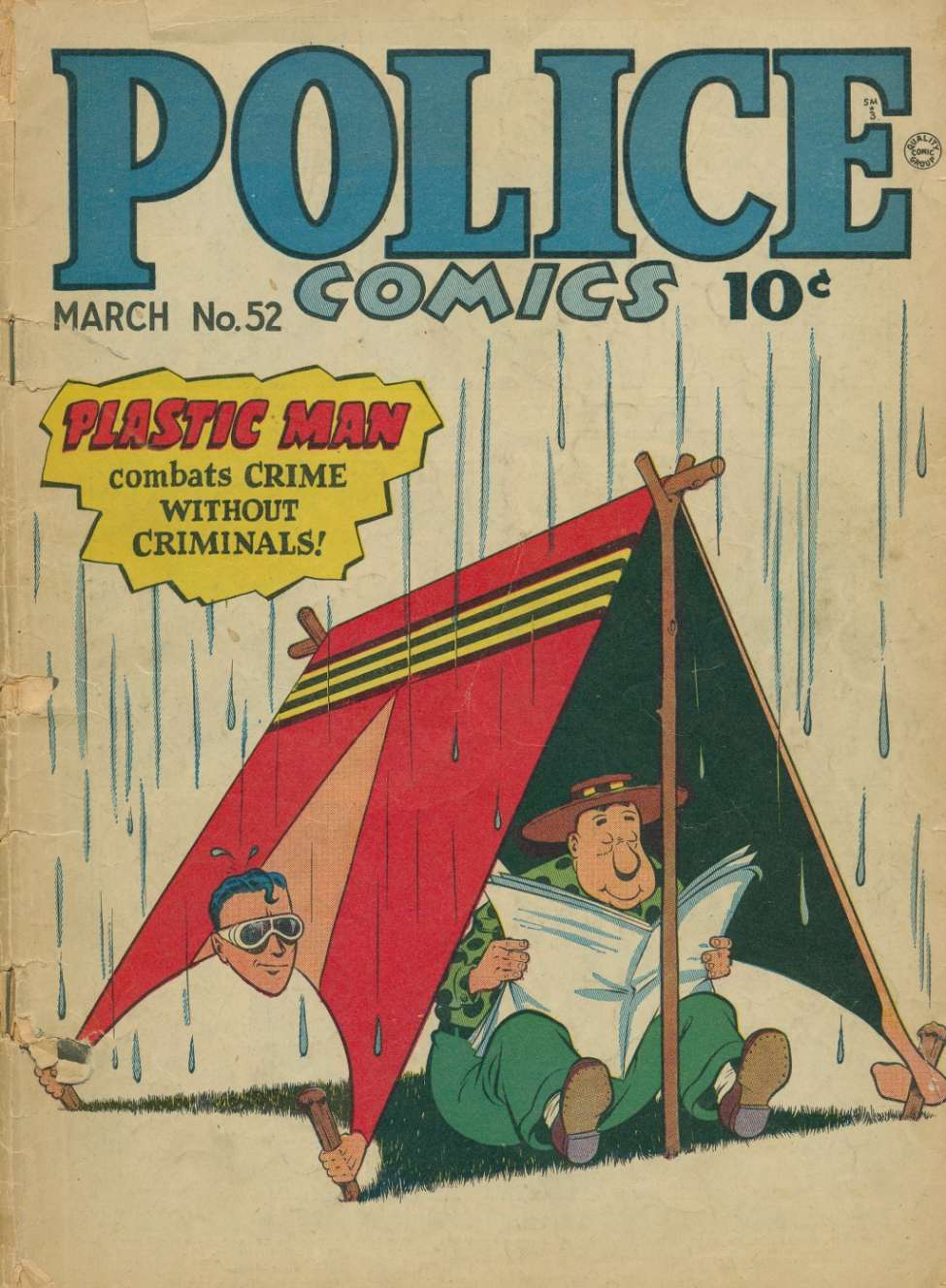 Comic Book Cover For Police Comics #52