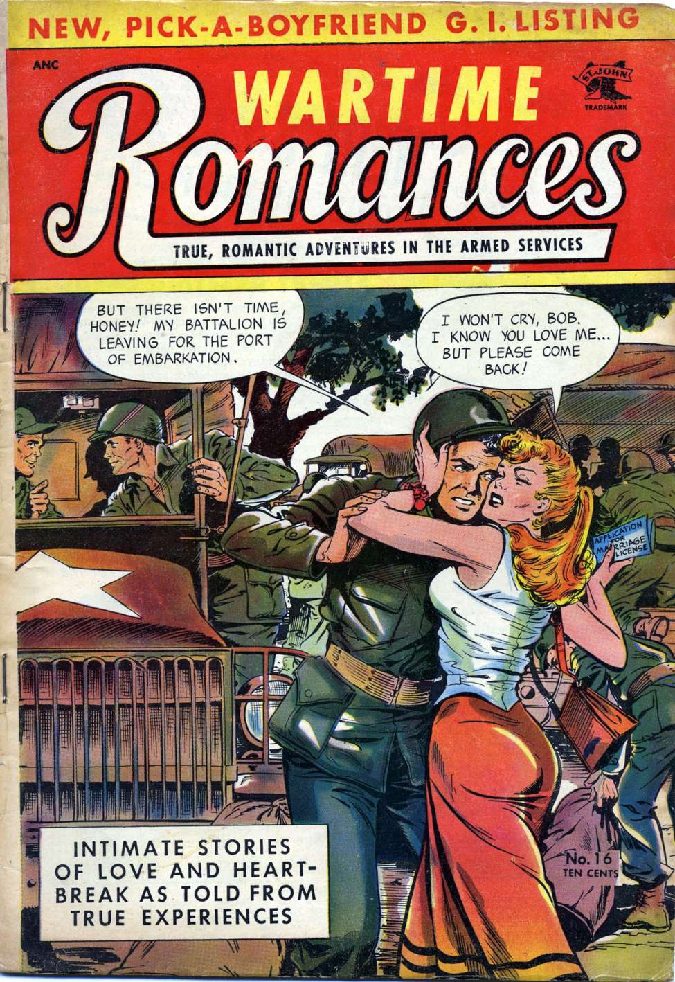 Comic Book Cover For Wartime Romances #16 - Version 2