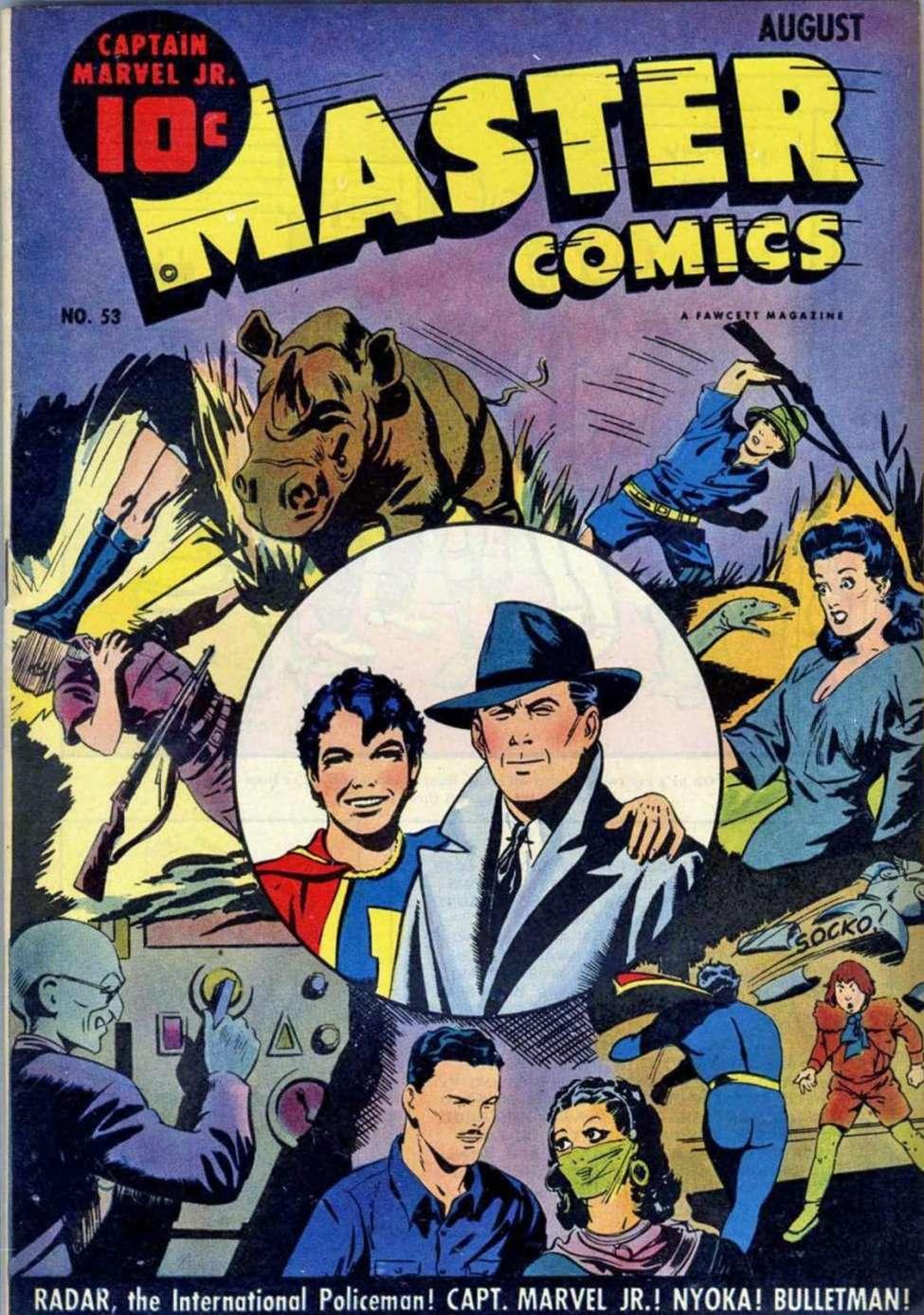 Comic Book Cover For Capt. Marvel Jnr Compilation Vol 07