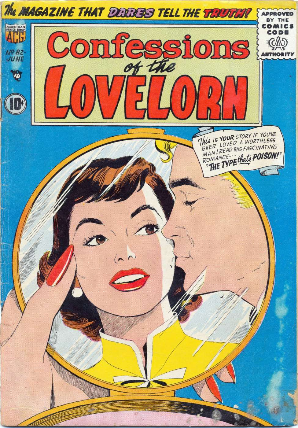 Comic Book Cover For Confessions of the Lovelorn #82