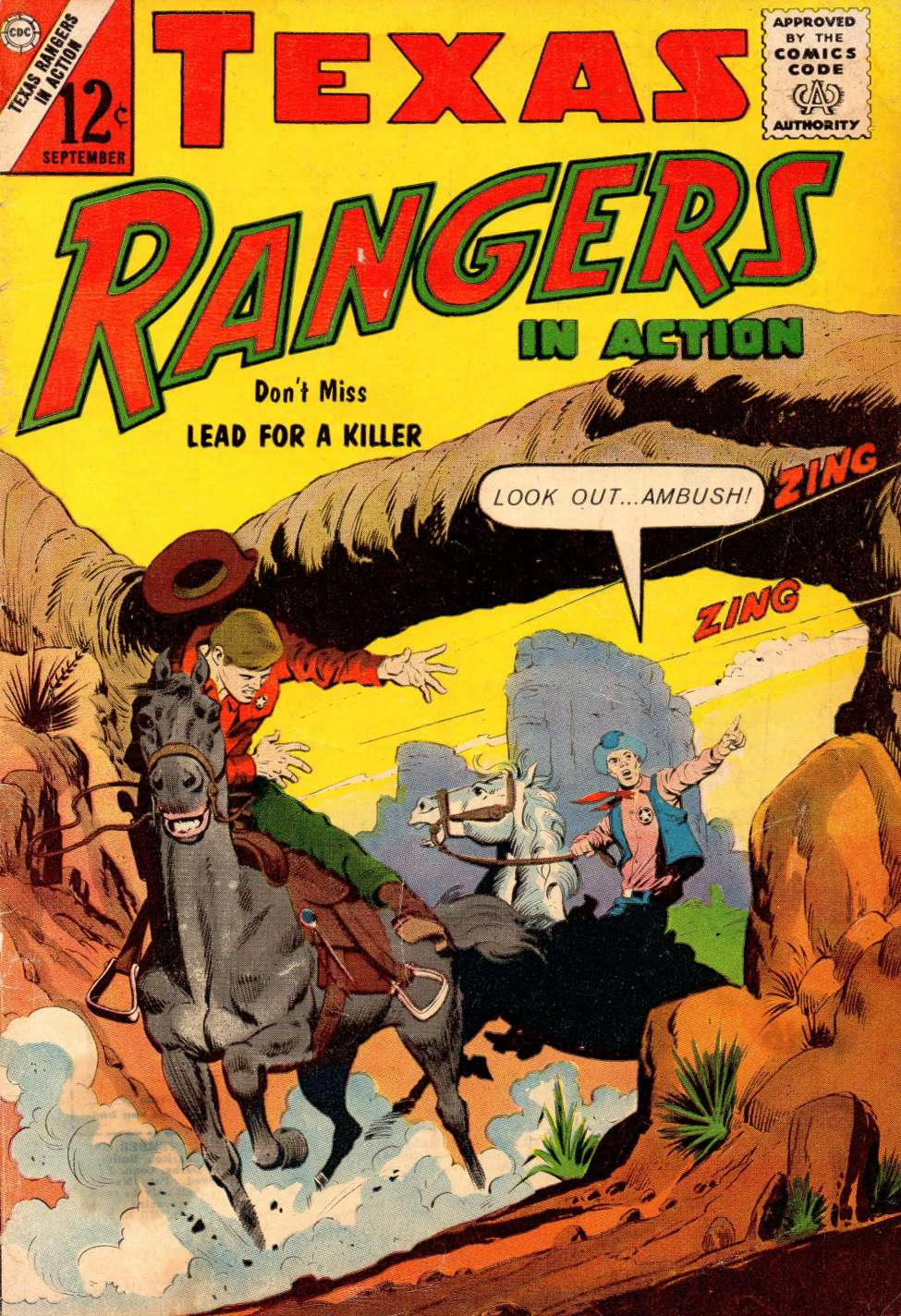 Comic Book Cover For Texas Rangers in Action #41